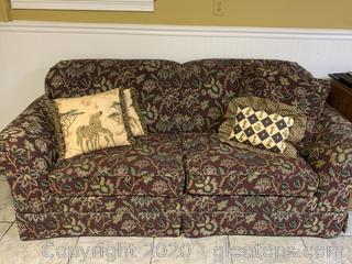 Dark Floral Sofa