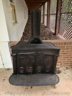 Antique Franklin Wood Burning Stove
