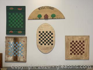 Collection of Handmade Checker Boards