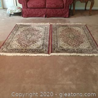 2 Matching Portofina Accent Rugs