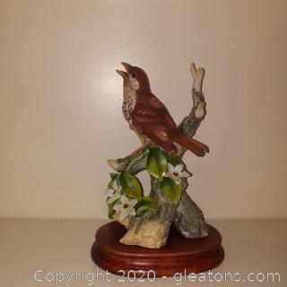 Vintage Wood Thrash Porcelain Figurine by Andrea by Sadek