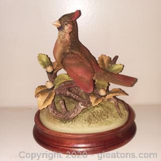 Vintage Andrea by Sadek Female Cardinal Porcelain Figurine