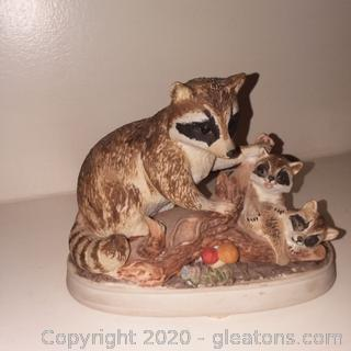 Josef Original Raccoon Family Porcelain Figurine