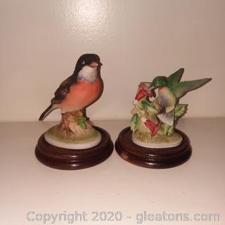 Pair Vintage Lefton Bird Figurines