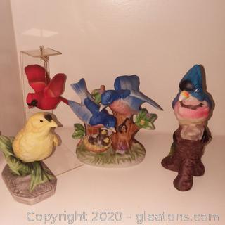 4 Porcelain Bird Figurines