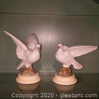 Vintage Byron Mold Dove Pair