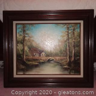 Framed Original Oil Painting by Local Artist Sherry Masters