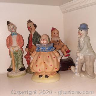 5 Vintage Clowns