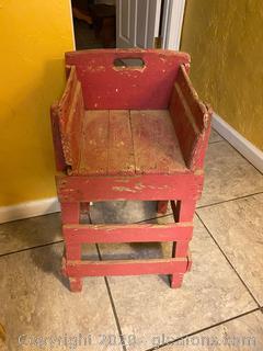 Homemade Antique Highchair