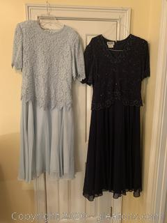 Pair Of Brilliante By. J.A. Dresses