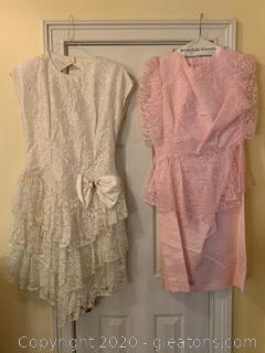 Pair Of Vintage Prom Dresses (B)