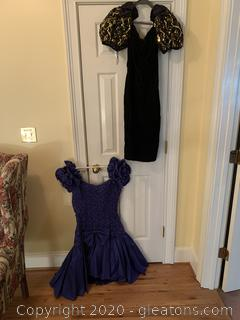 Pair Of Vintage Prom Dresses (A)