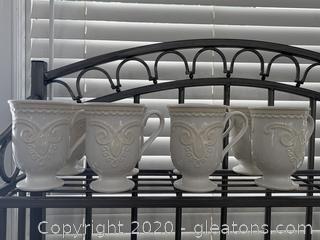 Lenox Linen Closet Braided Scroll Mugs