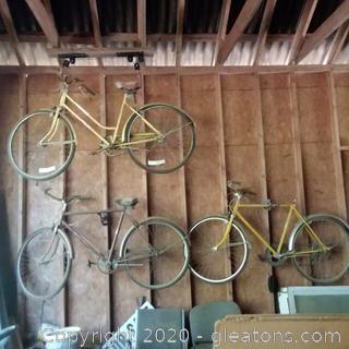3 Vintage Bicycles