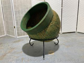 Bohemian Rattan Basket