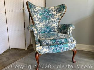 Antique French Wingback Parlor Chair