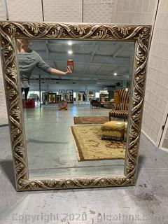 Large Transitional Style Bevelled Mirror