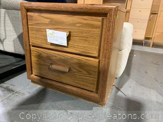 Small Wood Laminate Table W/2 Drawers