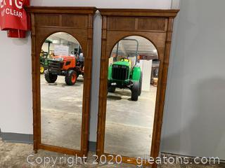 Pair of Bamboo Mirrors