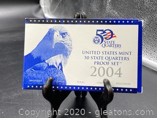 2004 U.S Mint 50 State Quarters Proof Set