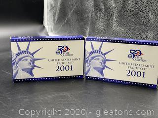 2001 U.S. Mint Proof Sets