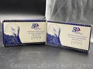 1999 U.S. Mint 50 State Quarters Proof Set (2)