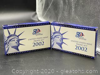 2002 U.S. Mint Proof Sets (2)