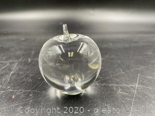 Rosenthal Glass Apple Paperweight