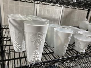 Collection of Milk Glass Drinkware
