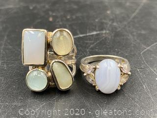 Gemstone Sterling Rings
