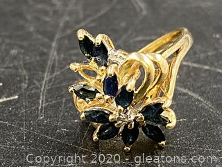 10K Solid Gold Ring W/Gemstone