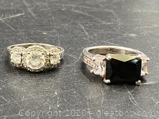 Sterling Rings W/Gemstones