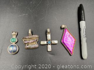 Sterling Gemstone Pendants