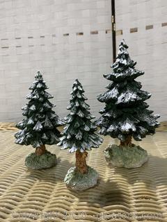 "The Original Snow Village- ""Snowy Scotch Pines"""