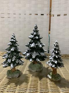 "The Original Snow Village –""Snowy Scotch Pines"""