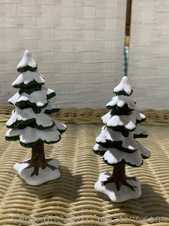 "The Heritage Village Collection- ""Village Small Porcelain Pines"" (The Original Snow Village"")"