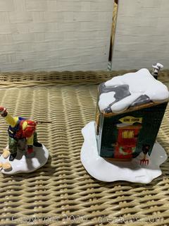 """The Original Snow Village- """"Fresh Frozen Fish"""""""