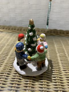 """The Original Snow Village – """"Kids Around The Tree"""""""