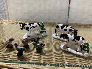 """The Original Snow Village """"A Herd Of Holiday Heifers"""""""