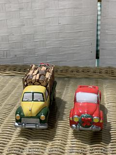 """The Original Snow Village – """"Pick-Up And Delivery""""And """"Firewood Delivery Truck"""""""
