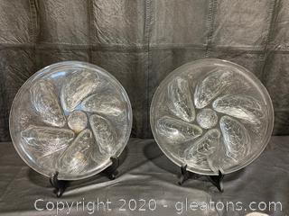 French Glass Oyster Plates