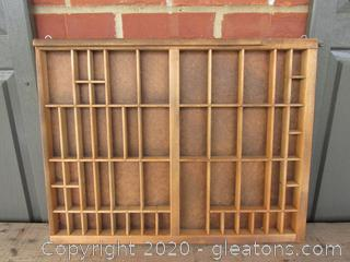 Nice Wooden Printers Tray Drawer (A) [ 21 inches by 16 1/2 inches ] Ready to Hang