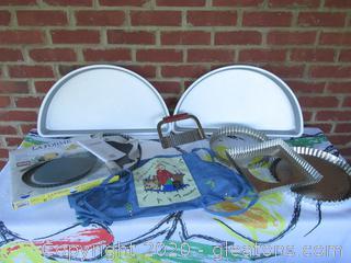 Make Them A Big Cake / Quiche Pan / Tart Pan / Tart Pan Outer Shells / Pasta Chopper / Reservations Apron