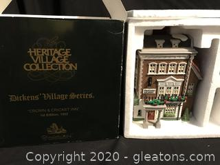 Exclusive Retired Special Editions Dept. 56, 1st edition THE CROWN & CRICKET INN