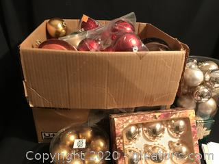 Large box of ornaments