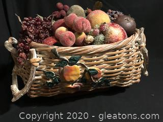 Beautiful basket with fruit