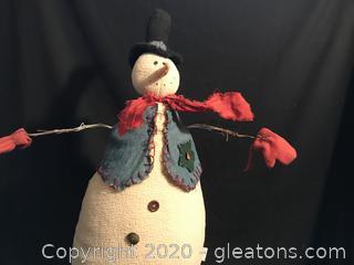 """Large 30"""" snowman"""