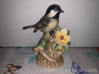 Black-Capped Chickadee Figurine By Andrea (8627)
