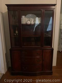Mahogany Serpentine China Cabinet