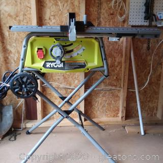 Ryobi Model RTS22 Table Saw with Rolling Stand